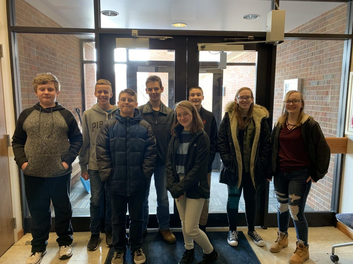 Freedom Middle School MathCounts team competed at the Beaver County competition at Penn State Beaver on Sat., Feb. 2.