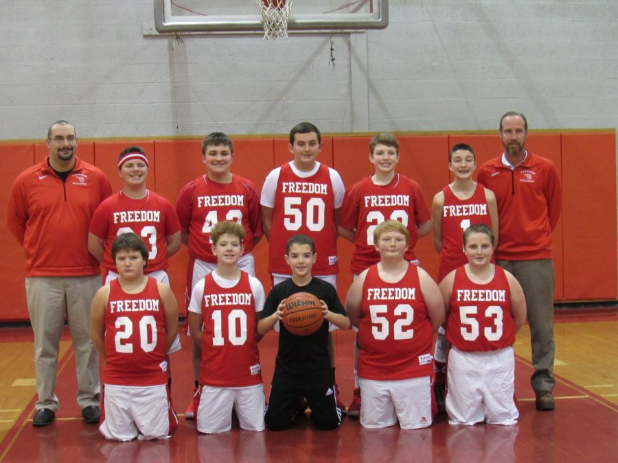 Basketball team ends season with first win