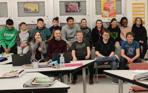 Mrs.Hartman's home room raised the most money during the penny drive, so they were congratulated with a $50 gift card.