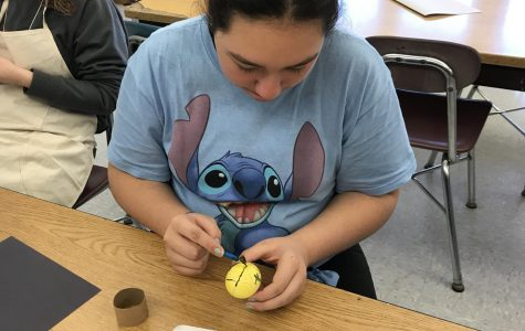 Art students learn the fascinating tradition creating of Ukrainian eggs