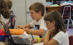Fifth grade students assigned personal Chromebooks to better aid learning