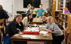 Mrs. Clibbens' sixth grade class makes math board games