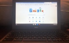 5th grade Chromebook being use for online schooling