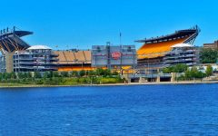 Empty Heinz stadium in Pittsburgh, PA