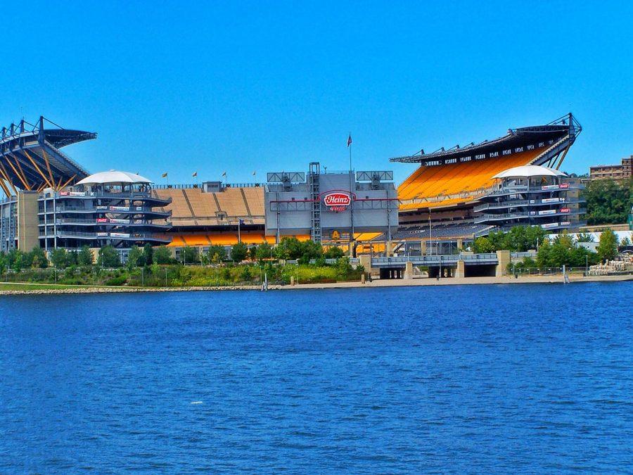 Empty Heinz stadium in Pittsburgh, PA