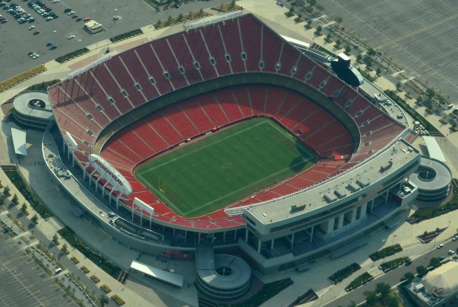 Arrowhead Stadium waiting for the Kansas City Chiefs to play on the turf.