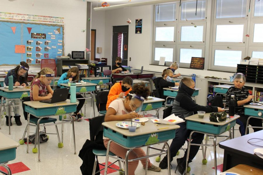 Fourth grade participates in rock painting project