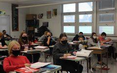 Students learning in school