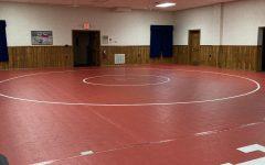 Freedom youth wrestling program's mats at the Big Knob Grange.