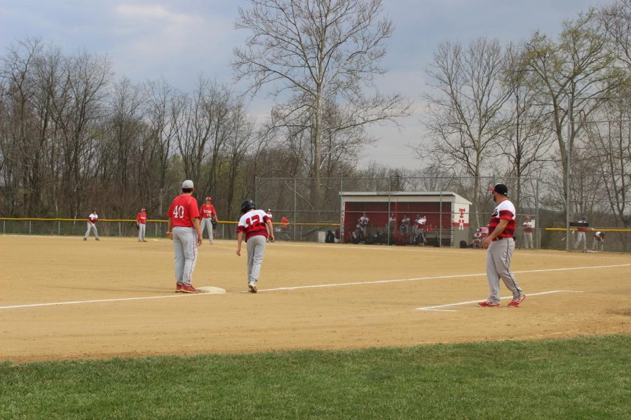 Freedom Junior High Baseball team plays against Montour School District.