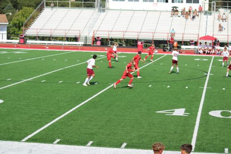 The boys soccer team plays against  Ambridge at home on Tuesday, Sept. 7.