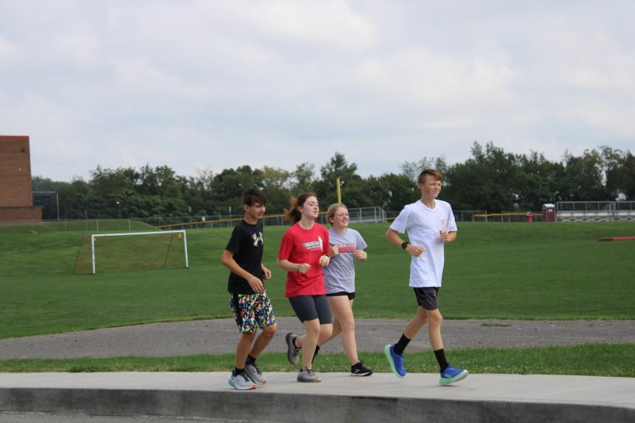 Cross country team going for a run on a beautiful day